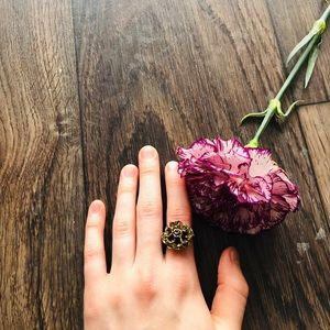 Vintage Golden Flower Ring